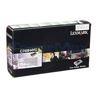 LEXMARK C748 RP TONER CART YELLOW 10K TAA